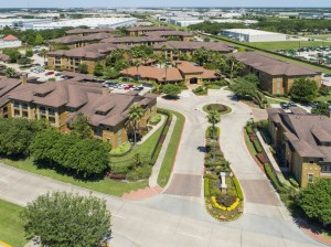 Three Bedroom Apartments for Rent in Northwest Houston, TX -Aerial View of Community & Entrance Way